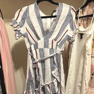 Dresses & Skirts - Striped wrap dress